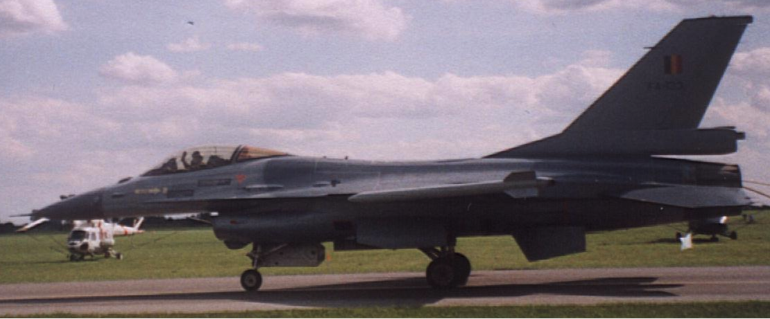 F-16 MLU Belgia. 2005 rok. Zdjęcie Karol Placha Hetman