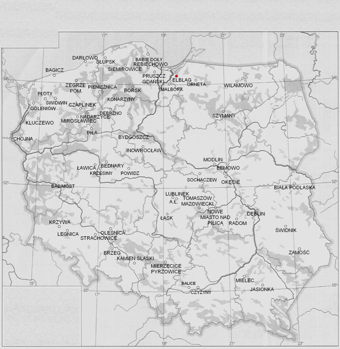 Lotnisko Elbląg na mapie Rzeczypospolitej 2013r. Zdjęcie Karol Placha Hetman