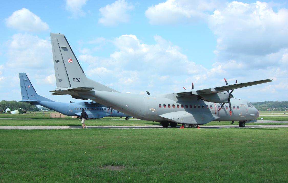 CASA C-295 M nb 013 and nb 022. Balice 2009. Photo by Karol Placha Hetman