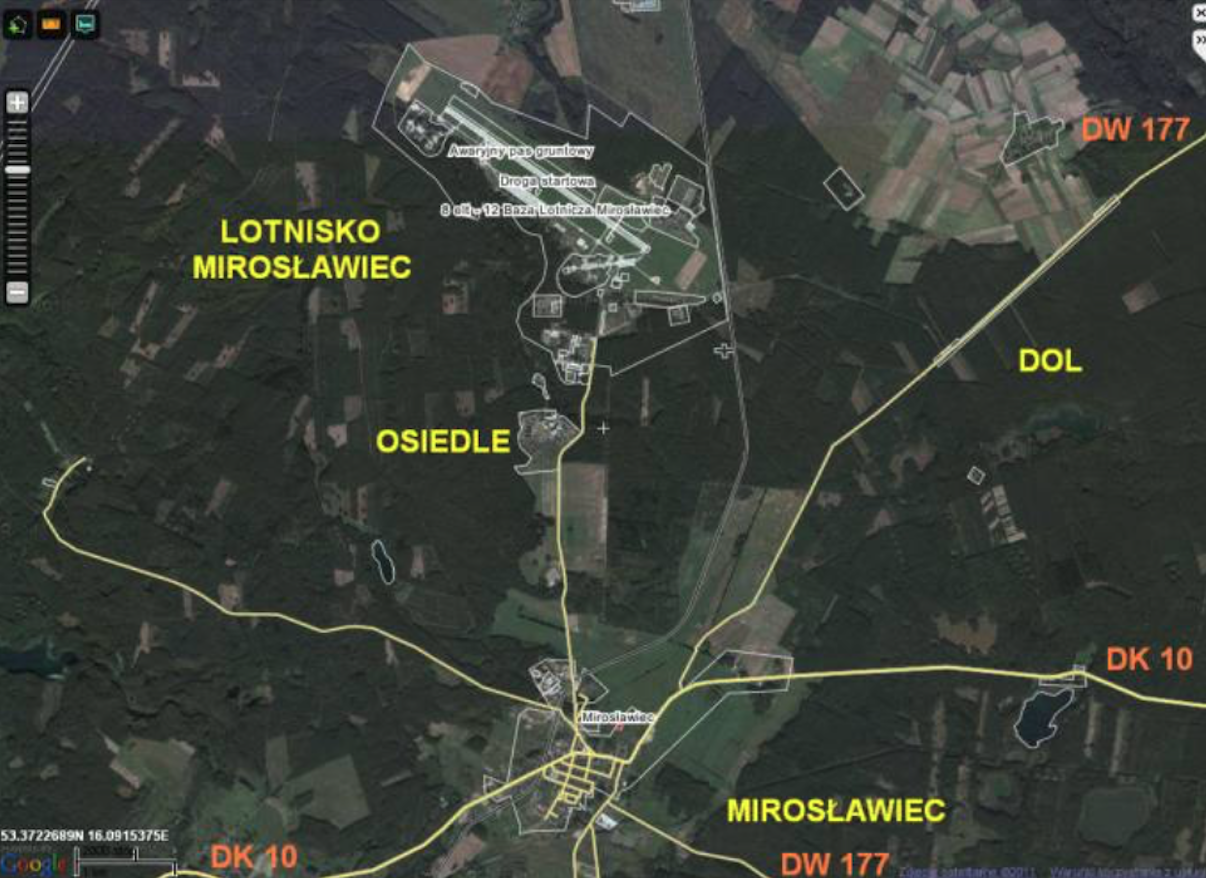 Mirosławiec Airport. 2011 year.