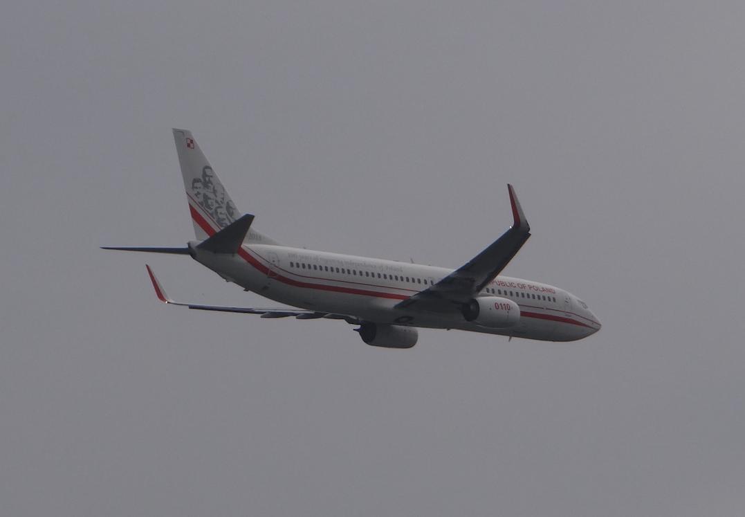 Rządowy Boeing B.737-800 BBJ nb 0110. 2019 rok. Zdjęcie Karol Placha Hetman