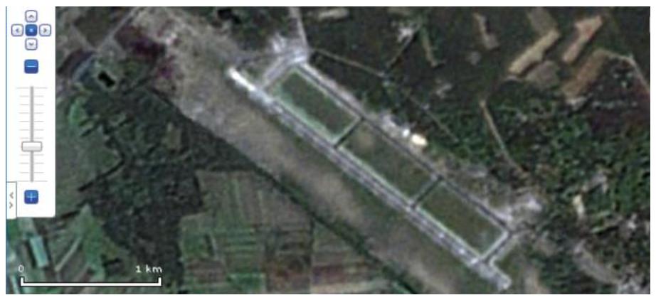 Lotnisko w Goleniowie. 2007 rok. Zdjęcie Google