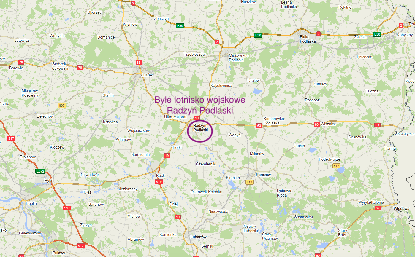 Radzyń Podlaski on the map of Poland. 2018 year