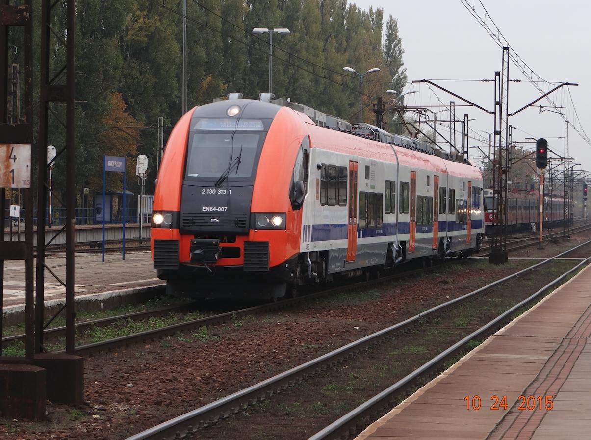 Pociąg EN-64-007, firmy PESA. Płaszów 2015 rok. Zdjęcie Karol Placha Hetman