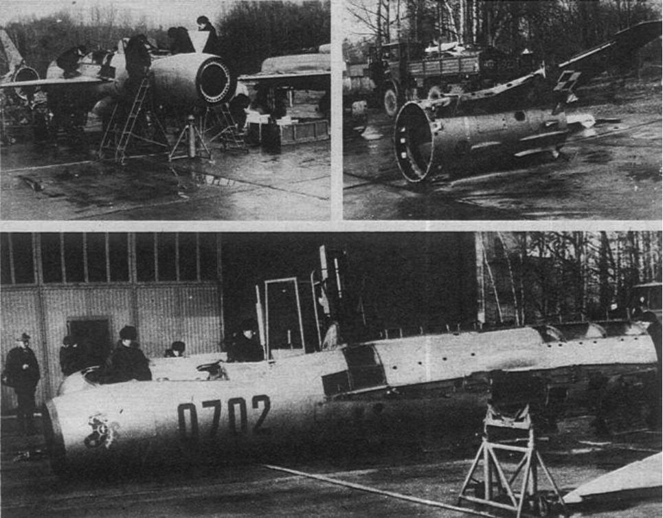 MiG-21 PF na złom. Lotnisko Mierzęcice. 1990 rok. Zdjęcie LAC