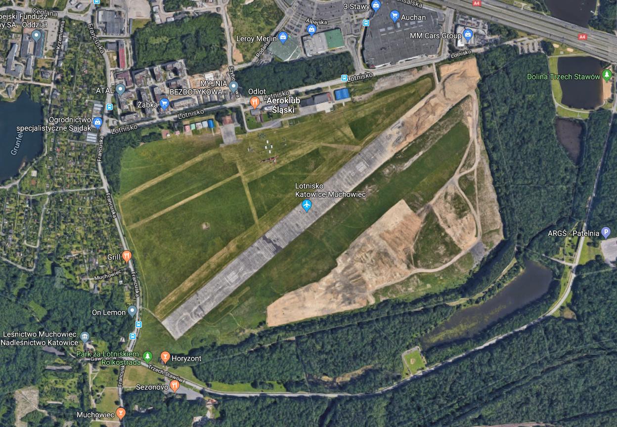 Airport Katowice Muchowiec. 2019. Photo Googlemaps