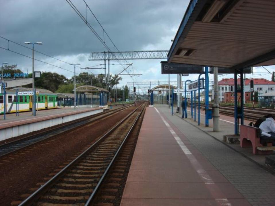 Dworzec Kolejowy Mińsk Mazowiecki. 2008 rok. Zdjęcie Karol Placha Hetman