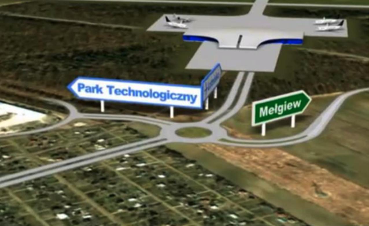 Wizja jednego z węzłów drogowych przy Lotnisku. 2010 rok. Zdjęcie LAC