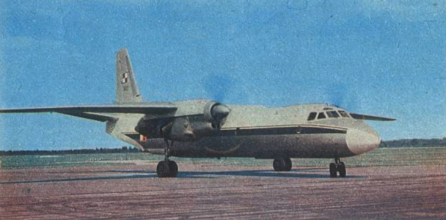 The first An-26 nb 1308 in Poland. 1972. Photo of LAC