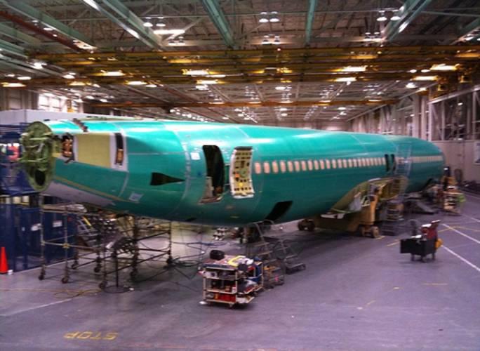 Ukończony kadłub Boeing 737. Wichita 2011r.