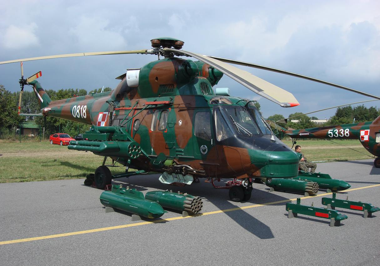 PZL-Sokół W-3PL nb 0818 w pierwszej wersji szturmowej. 2007 rok. Zdjęcie Karol Placha Hetman
