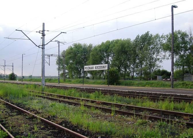 Stacja kolejowa Poznań Krzesiny. 2006r.