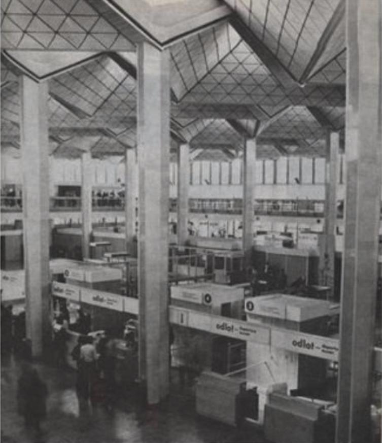 Interior of MDL Okęcie. 1975 year. Photo of LAC