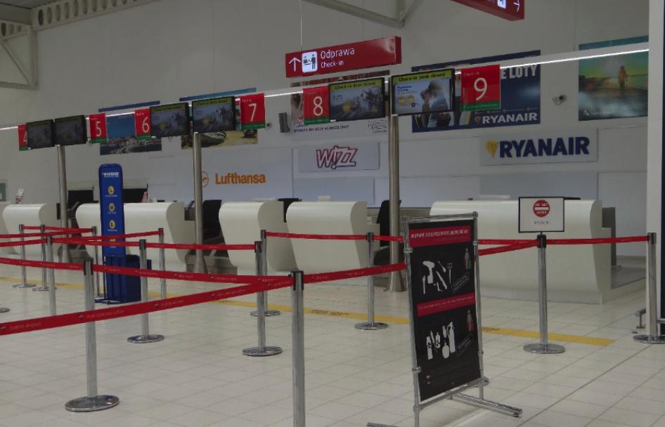 Terminal Portu Lotniczego Lublin w Świdniku. Stanowiska odpraw. 2016 rok. Zdjęcie Karol Placha Hetman