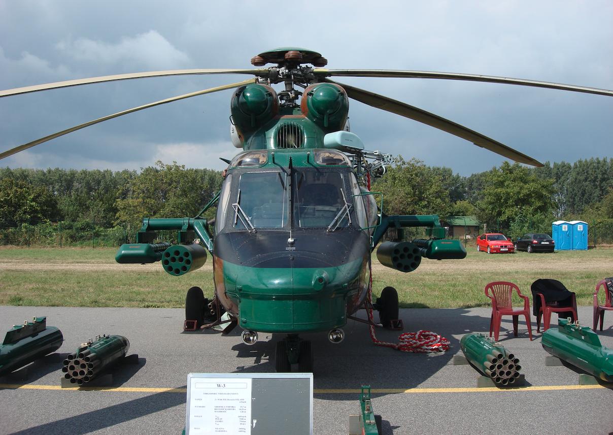 PZL W-3 Sokół uzbrojony. 2007 rok. Zdjęcie Karol Placha Hetman