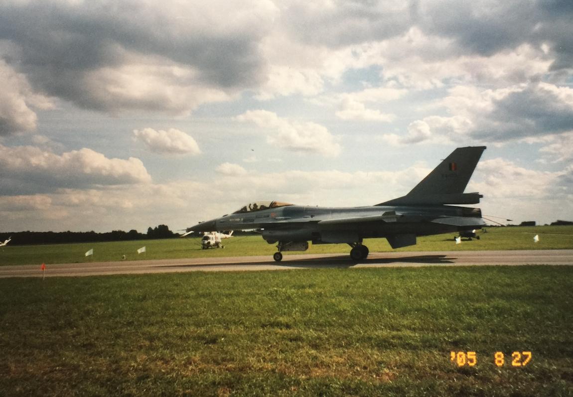 F-16. Belgia. 2005 rok.Zdjęcie Karol Placha Hetman