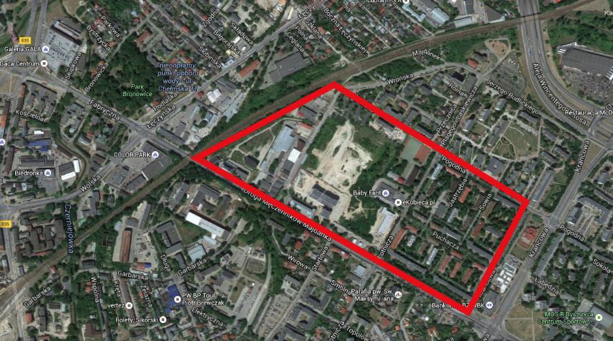 Miejsce byłej fabryki i lotniska w Lublinie. 2016 rok. Zdjęcie Karol Placha Hetman
