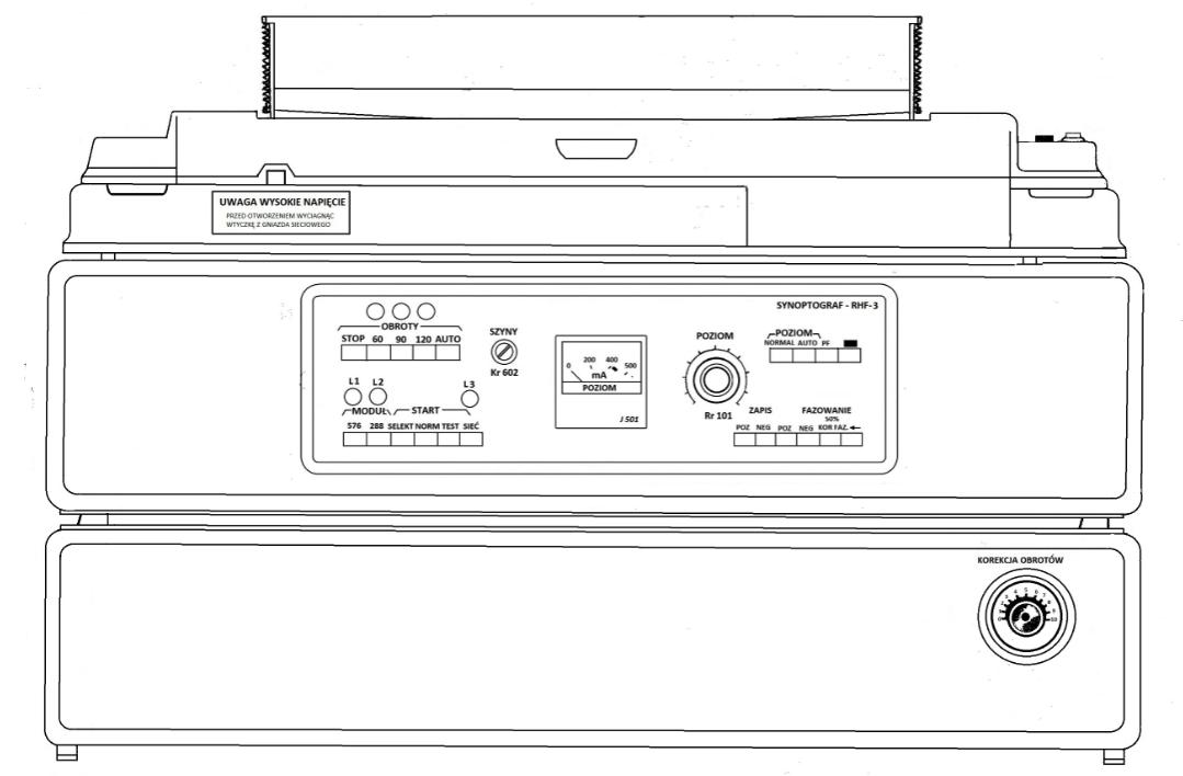 Synoptograf RHF-3, rysunek z instrukcji