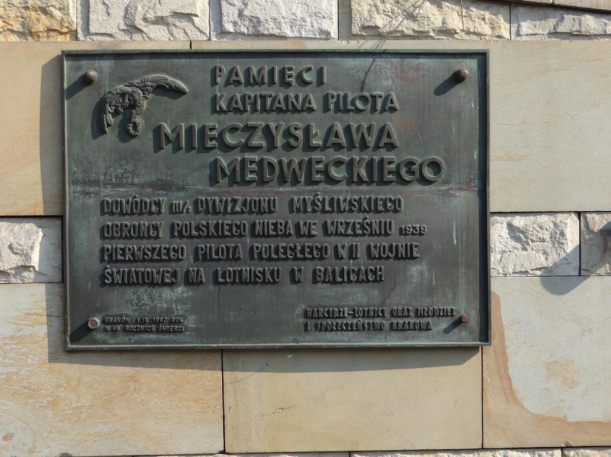 Tablica pamięci Mieczysława Medweckiego. 2012 rok. Zdjęcie Karol Placha Hetman