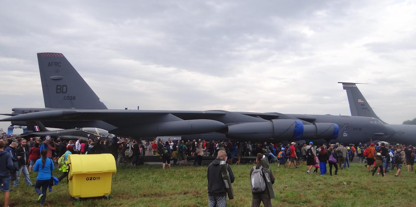 Boeing B-52H Stratofortress Nb AFRC BD AF 60 038 USAF 93rd Bomb Squadron. 2016 rok. Zdjęcie Karol Placha Hetman