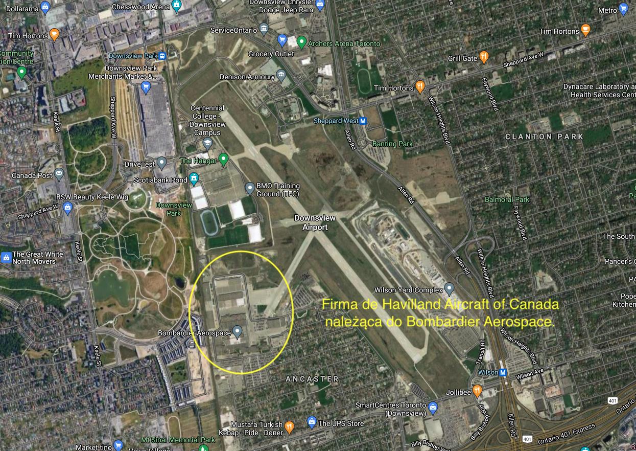 Firma de Havilland Aircraft of Canada należąca do Bombardier Aerospace. 2012 rok. Praca Karol Placha Hetman