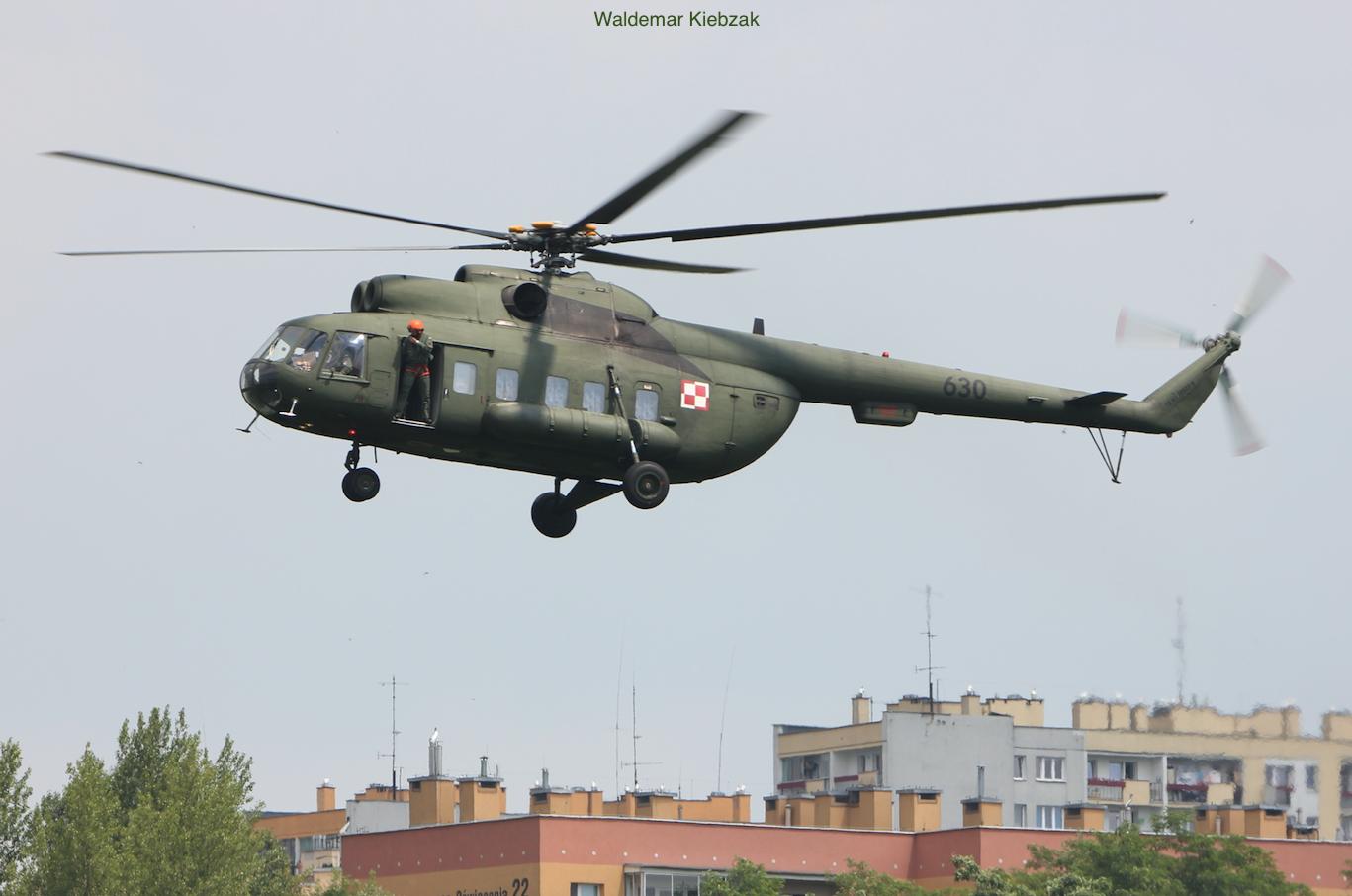 Mi-8 PS Nb 630. 2017 rok. Zdjęcie Waldemar Kiebzak