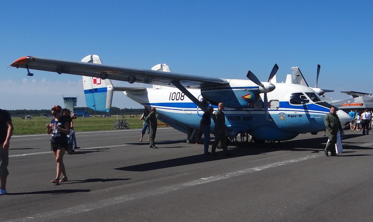 PZL M-28 Bryza-1R nb 1008 z radarem. 2014 rok. Zdjęcie Karol Placha Hetman