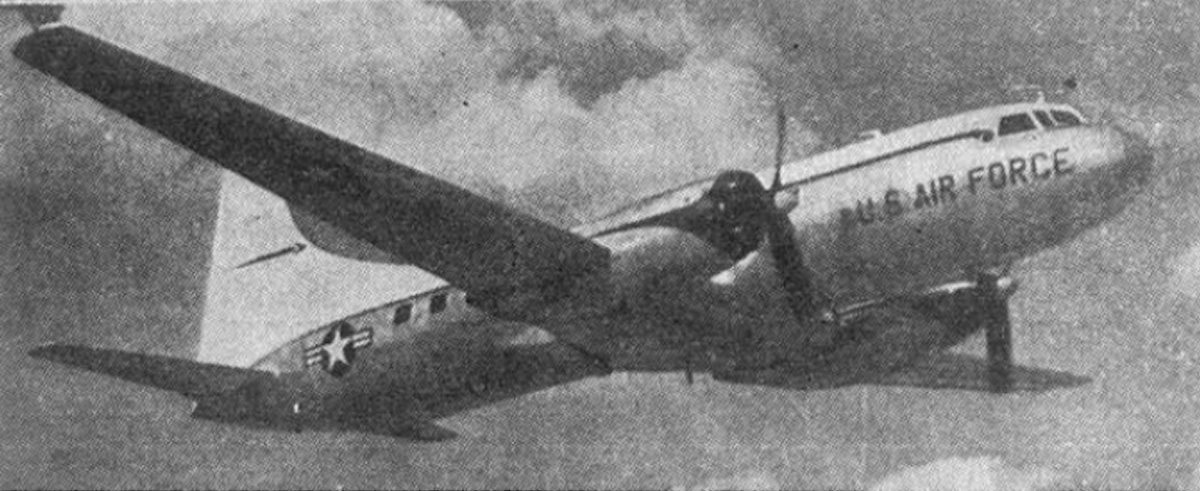 Convair CV-240 w odmianie wojskowej C-131 USAF. 1950 rok. Zdjęcie USAF