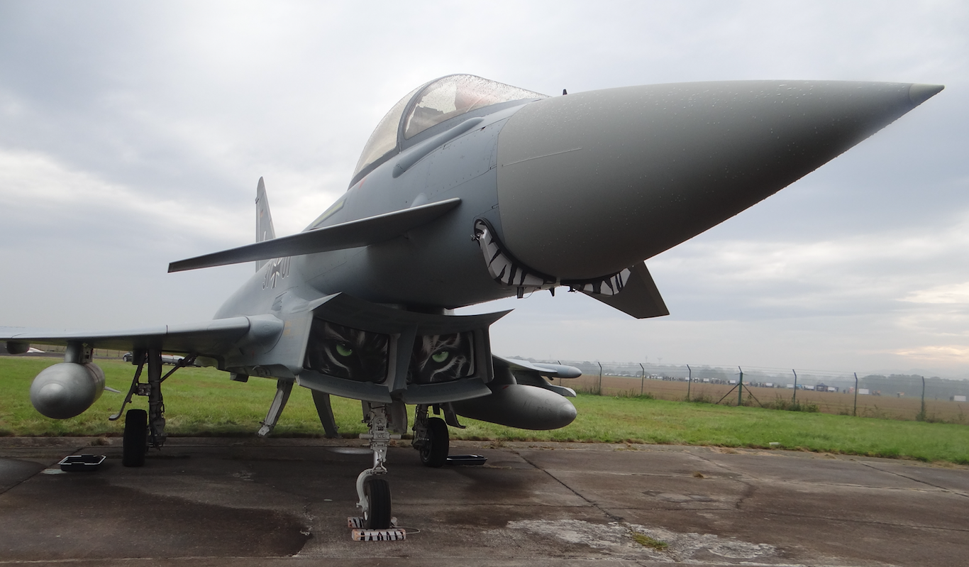 Eurofighter Typhoon Nb 31x30 German Air Force. 2016 rok. Zdjęcie Karol Placha Hetman