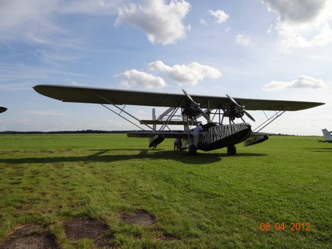Łódź latająca Sikorsky S-38 na Lotnisku Wilamowo 2012r.