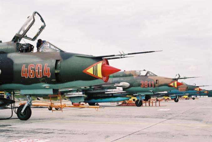 Su-22 na Lotnisku Mirosławiec. 2000r.
