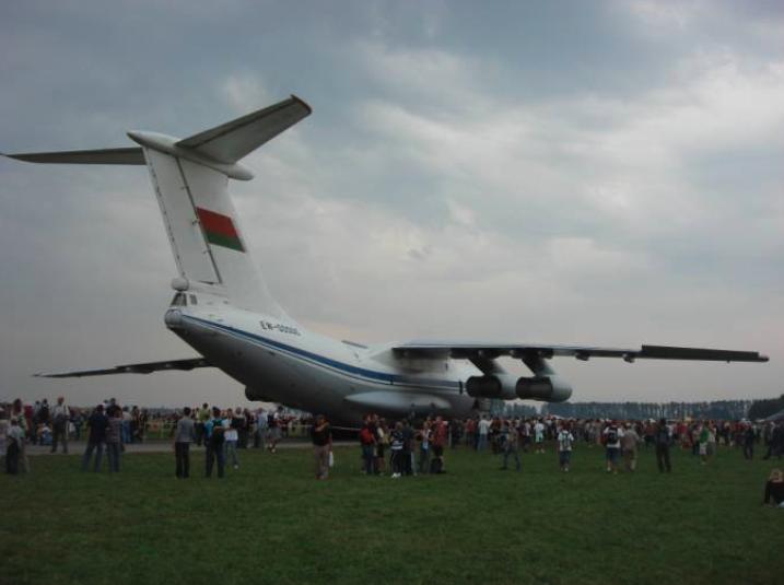Ił-76 lotnictwa wojskowego Białorusi. Radom 2009 rok. Zdjęcie Karol Placha Hetman