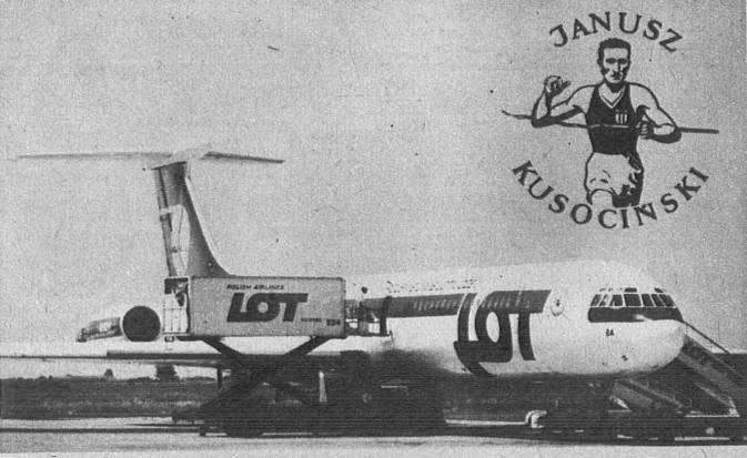 Ił-62 M SP-LBA Janusz Kusociński. 1979r.