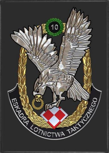 Godło 10 Eskadry Lotnictwa Taktycznego. 2000r.-2010r.