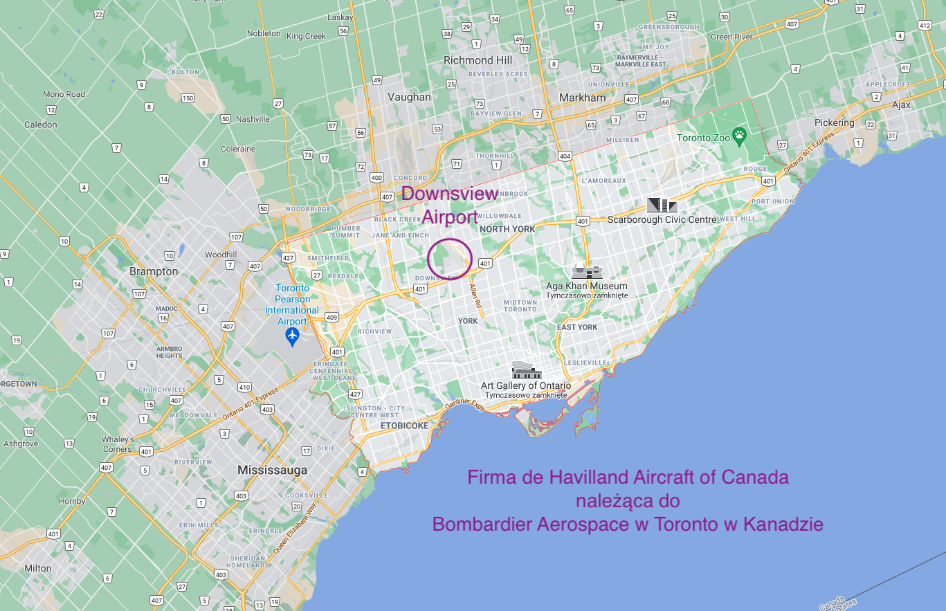 Firma de Havilland Aircraft of Canada. 2012 roku. Praca Karol Placha Hetman