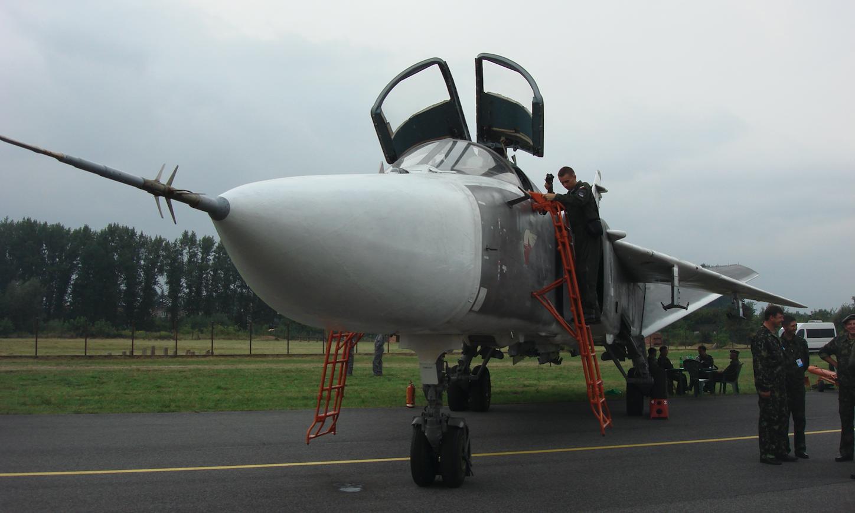 Samolot uderzenia jądrowego Suchoj Su-24. 2009 rok. Zdjęcie Karol Placha Hetman
