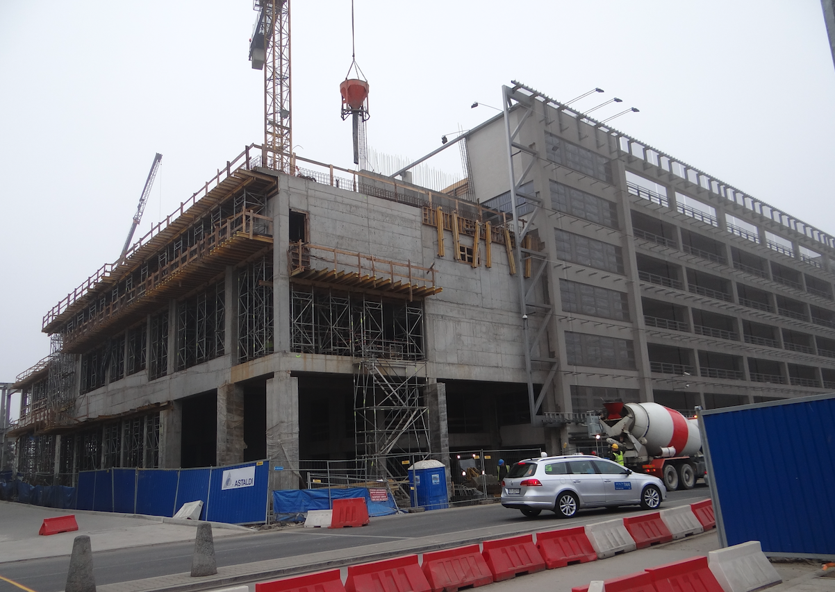 Budowa obiektu dla pomostu. 2014 rok. Zdjęcie Karol Placha Hetman