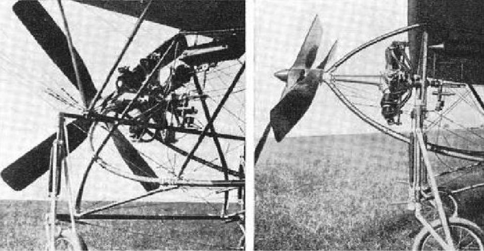The bi-rotary motor of engineer Henryk Brzeski. 1910 year. Photo of LAC