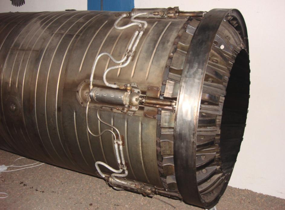 Silnik Archip Lulka AL-7 F. Regulowana dysza wylotowa. 2009 rok. Zdjęcie Karol Placha Hetman