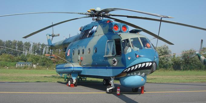 Mi-14 PŁ Nr A1005 Lotnisko Radom 2011r. Zdjęcie Karol Placha Hetman.