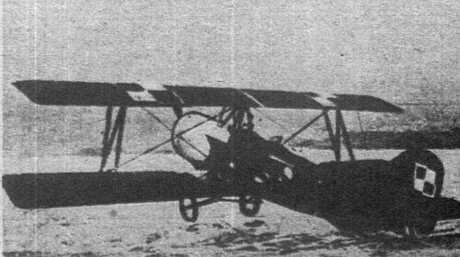 Samolot Bartel BM-4a na lotnisku Ławica. 1927 rok. Zdjęcie LAC
