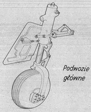 M-20 Mewa Podwozie główne. 1980r.