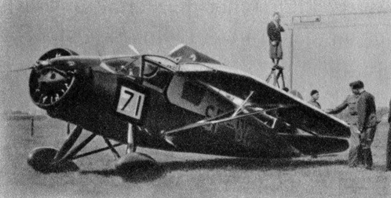 Polish RWD-9 plane of the pilot of Jerzy Bajan. 1934. Photo of LAC