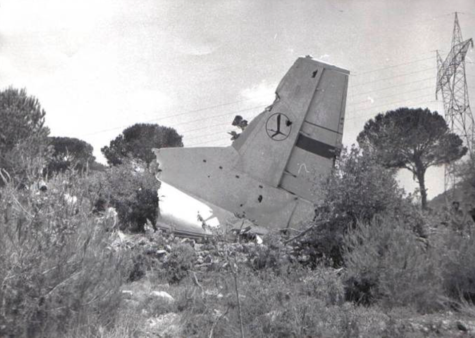 Polish An-12 SP-LZA wrecked in Beirut. 1977. Photo of LAC