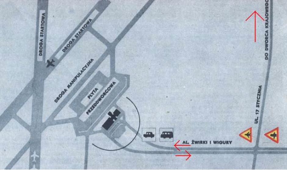MDL Okecie plan. 1969 year. Photo of LAC