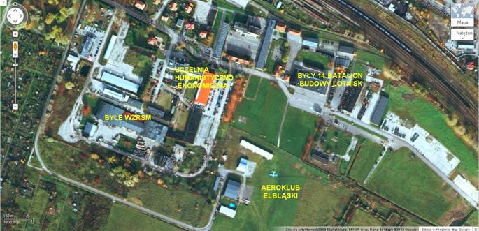 Lotnisko Elbląg 2013r. Zdjęcie Wikimapia