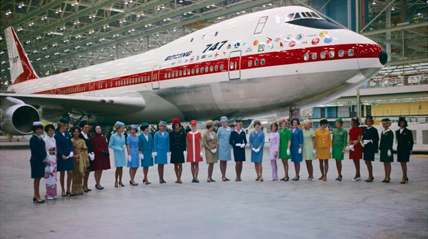 Boeing 747 Rollout ceremony. 30th of September 1968. Photo of Boeing