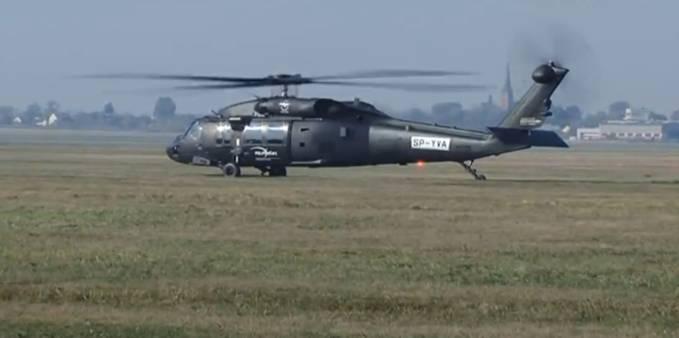 Black Hawk SP-YVA podczas oblotu. 2010r.