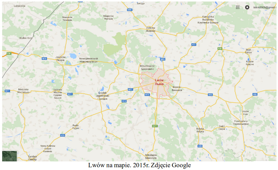 Lwów na mapie. 2015 rok