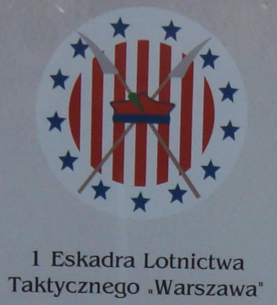 """Godło 1 Pułku Lotnictwa Myśliwskiego """"Warszawa"""".Zdjęcie Karol Placha Hetman"""